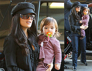 Photos of Salma Hayek and Valentina Pinault at LAX 2009-01-13 10:00:24