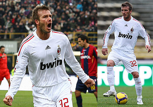 Photos of David Beckham Celebrating After Scoring His First Goal for AC Milan, Talking About Staying in Italy Longer