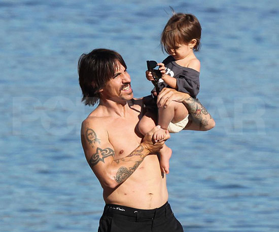Anthony and Everly Hit the Sand