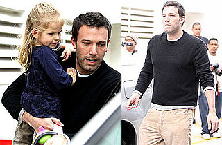Photos of Ben Affleck Picking Up Violet Affleck From School