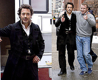 Photos of Robert Downey Jr and Guy Ritchie On the Set of Sherlock Holmes