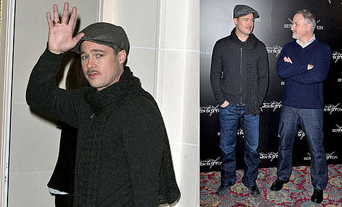 Photos of Brad Pitt at Benjamin Button Photo Call in Paris, Who Was Nominated for a Best Actor Oscar