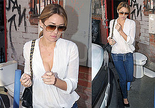 Photos of Lauren Conrad Filming The Hills at People's Revolution