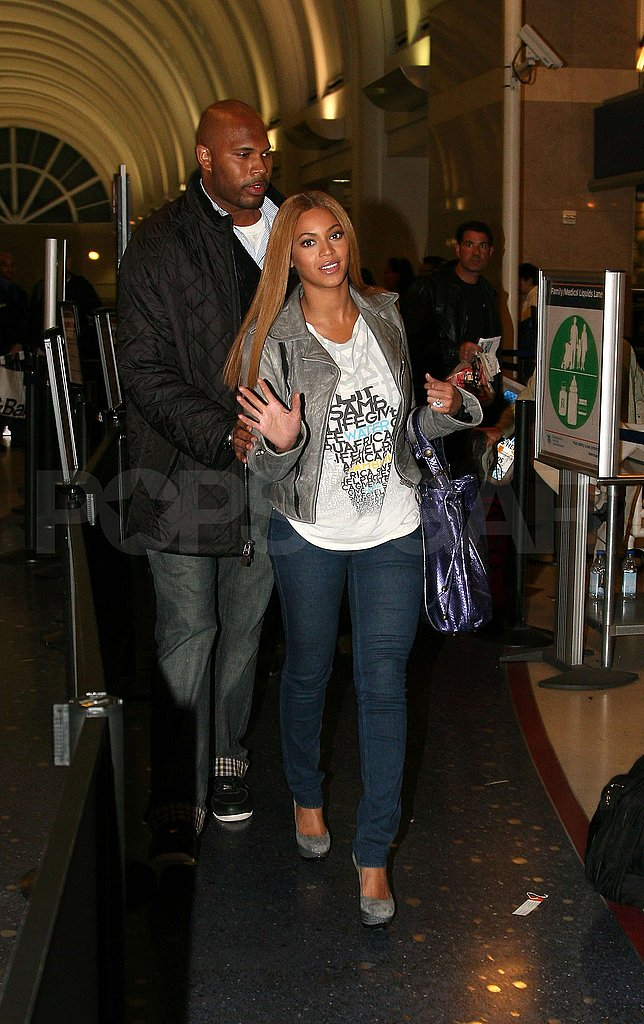 Beyonce Knowles at LAX