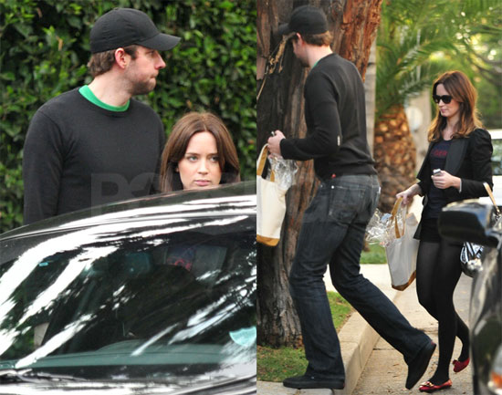John Krasinski and Emily Blunt in LA
