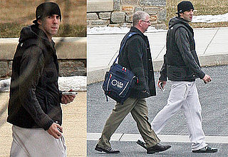 Photos of Michael Phelps Heading to the Pool at Loyola College