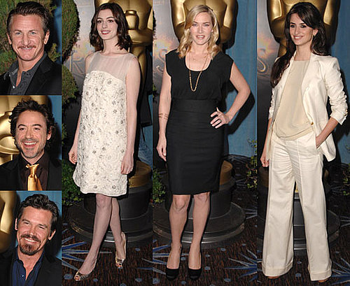 Photos of Kate Winslet, Anne Hathaway, Sean Penn, Robert Downey Jr., Penelope Cruz at the 2009 Oscar Nominees Luncheon