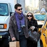 Ashley Olsen and Justin Bartha in NYC