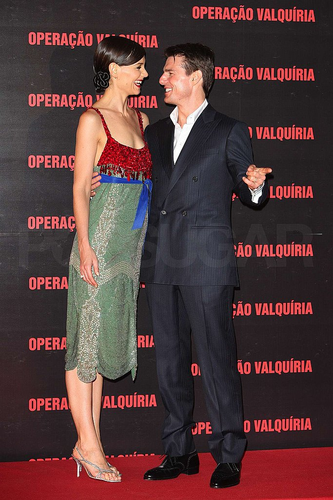 Tom and Katie at the Valkyrie Premiere