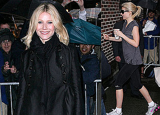 Gwyneth Brings Her Legs and Smiles to Letterman