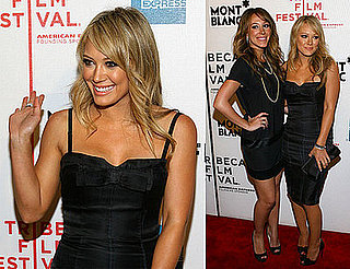 Images of Hilary Duff at the premiere of War Inc at the Tribeca Film Festival