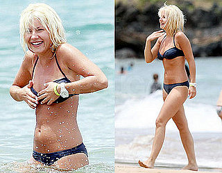 Elisha Cuthbert Avoids A Nip Slip Showing Off Her Bikini Body in Hawaii