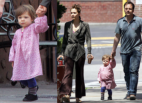 Maggie Gyllenhaal and Peter Sarsgaard with Daughter Ramona in Brooklyn. NY