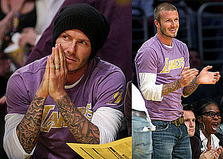 David Beckham Goes To The Lakers Game
