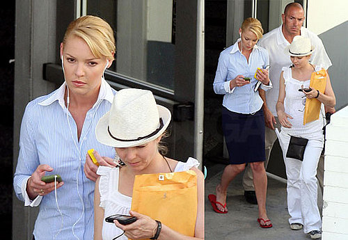 Katherine Heigl On The Set Of The Ugly Truth