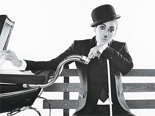 Jessica Alba As Charlie Chaplin in June Allure