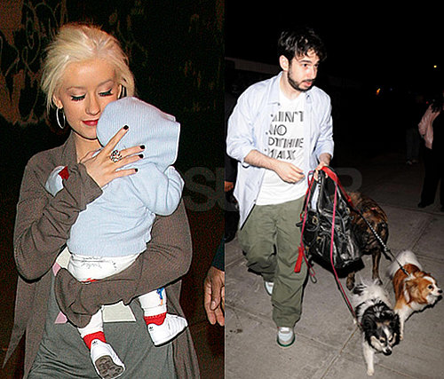 Christina Aguilera Brings Out Baby Max in New York
