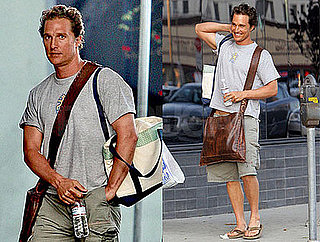 Father-to-Be Matthew McConaughey Leaves a LA Studio