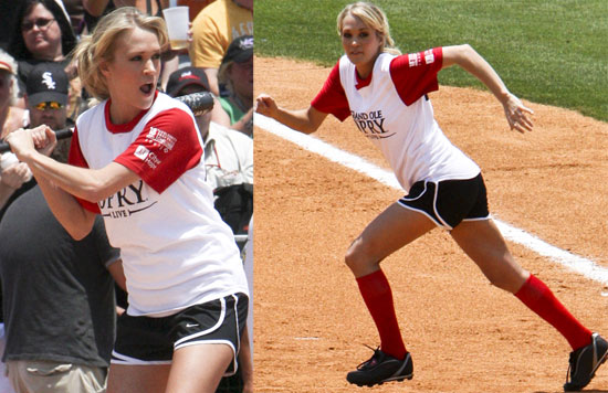 Photos of carrie underwood playing in a celebrity softball for How many kids does carrie underwood have