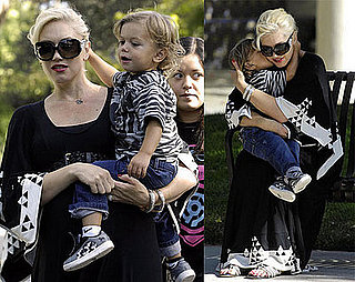 Photos of Gwen Stefani and Kingston Rossdale Kissing in the Park