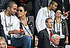 Eva Longoria, Tony Parker, Roger Federer at the France-Italia Game in the Euro 2008