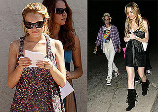 Lindsay Lohan Films Labor Pains and Hangs With Samantha Ronson