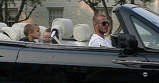 Photos of David Beckham, Cruz Beckham, Romeo Beckham in New Rolls Royce