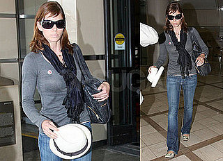 Photos of Jessica Biel at LAX As Nailed Shuts Down Production Again