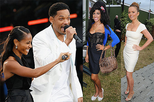 Photos of Will Smith, Jada Pinkett, Geri Halliwell, Amy Winehouse at Nelson Mandela's Birthday Concert