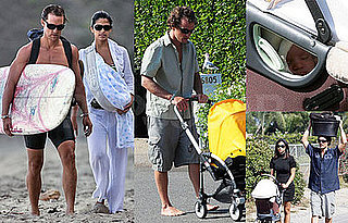 Photos of Matthew McConaughey, Camilla Alves, Baby Levi McConaughey in Malibu