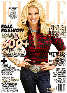 Photo of Jessica Simpson on September 2008 Cover of Elle Magazine