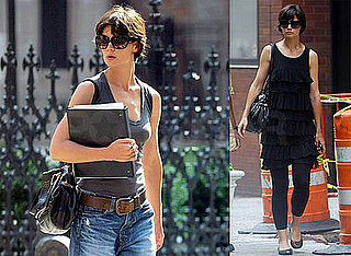 Photos of Katie Holmes Wearing Baggy Jeans in NYC