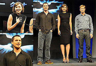 Photos of Christian Bale, Maggie Gyllenhaal, Aaron Eckhart at a Press Conference For The Dark Knight in Tokyo