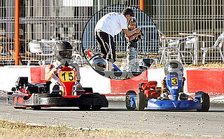 Photos from Maddox Jolie-Pitt's 7th Birthday Celebration at the Go Kart Track With Brad