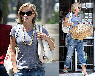 Photos of Reese Witherspoon Buying a Basket in Brentwood