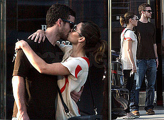 Photos of Justin Timberlake and Jessica Biel Kissing While Furniture Shopping in LA