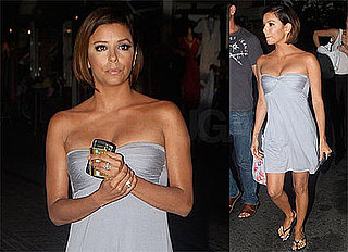 Photos of Eva Longoria, Who Fueled Pregnancy Rumors by Skipping Alcohol and Sushi in Las Vegas