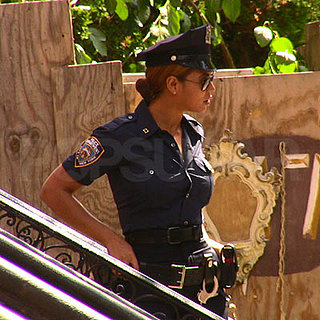 Beyonce Knowles on Set in NYC