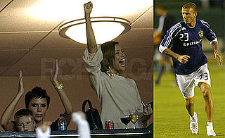Photos of David Beckham, Eva Longoria and Victoria Beckham During LA Galaxy's Victory Against DC United