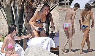 Lindsay Lohan and Samantha Ronson Bikini Photos on Vacation in Mexico