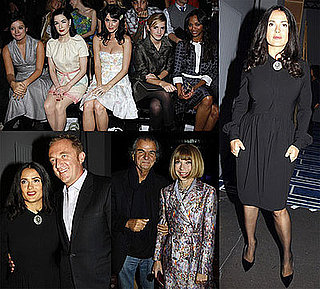 Photos of Celebrities at Paris Fashion Week Including Salma Hayek, Dita Von Teese, Emma Watson, and More