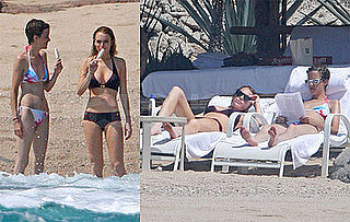Samantha Ronson and Lindsay Lohan Bikini Photos in Cabo