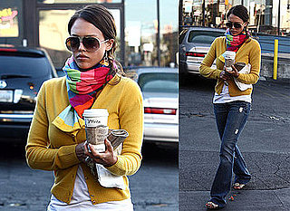 Photos of Jessica Alba Picking Up Coffee in LA