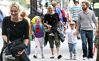 Photos of Kate Winslet and Her Kids Out in NYC
