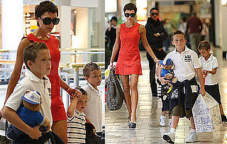 Photos of Victoria Beckham And Her Sons Shopping at Build-a-Bear at Westside Pavillion Mall