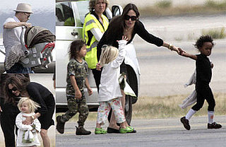 Photos of the Jolie-Pitt Family Arriving Back in Nice, France, After Visits to NYC and New Orleans