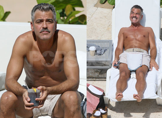 Shirtless Clooney in the Sun