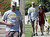 Photos of Mad Men Star John Hamm Walking His Dog With Girlfriend Jennifer Westfeldt