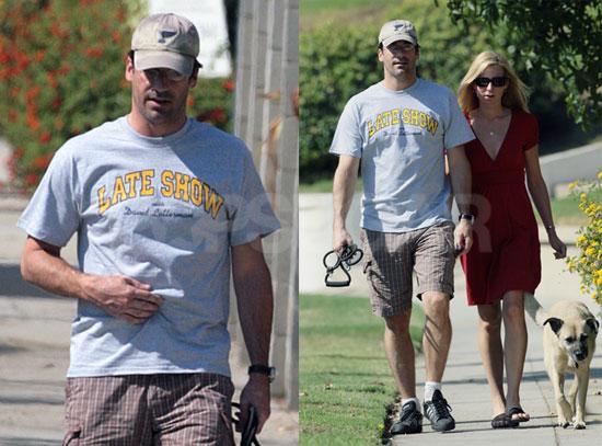 Jon Hamm Dog Walk