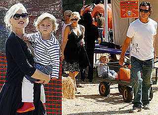 Photos of Kingston Rossdale With Mom Gwen Stefani and Dad Gavin Rossdale at Pumpkin Patch in LA